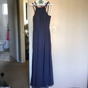 Azazie dress royal blue size A0